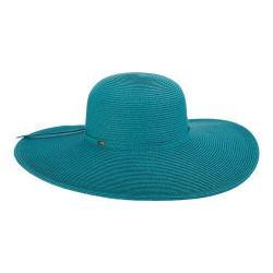 Women's Scala LP Paper Braided Big Brim Sun Hat Turquoise