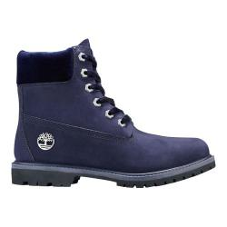 Women's Timberland 6in Premium Leather/Fabric Waterproof Boot Dark Blue Nubuck