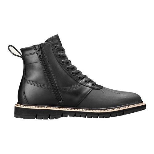 Men's Timberland Britton Hill Sidezip Rubber Toe Boot Black Full Grain Leather
