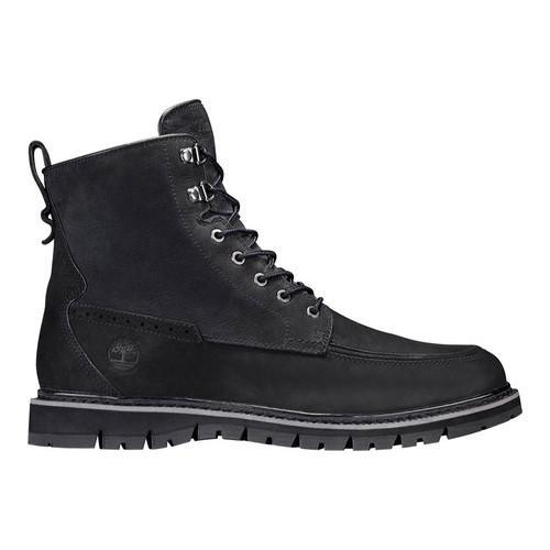 Men's Timberland Britton Hill Waterproof Moc Toe Boot Black Waterbuck Nubuck | Shopping The Best Deals on Boots
