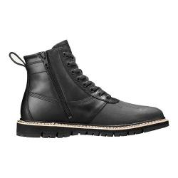 Men's Timberland Britton Hill Sidezip Rubber Toe Boot Black Full Grain Leather