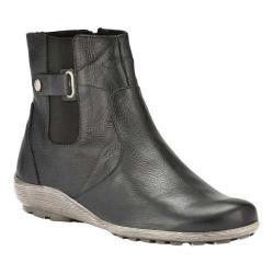 Women's Walking Cradles Hadwin Chelsea Boot Black Pebble Grain Leather (More options available)