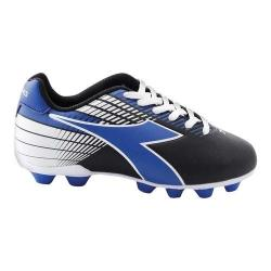 Children's Diadora Ladro MD Soccer Cleat Black/Blue/White