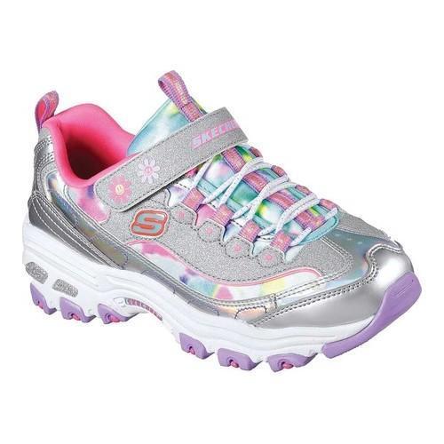 55753498db Girls' Skechers D'Lites D'Lovely Sneaker Silver/Multi