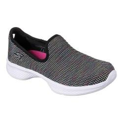 Girls' Skechers GOwalk 4 Select Slip-On Walking Shoe Black/Multi