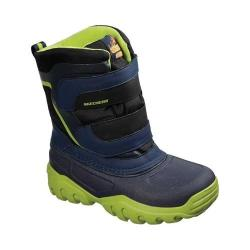 Boys' Skechers High Slopes Cold Weather Boot Navy/Lime