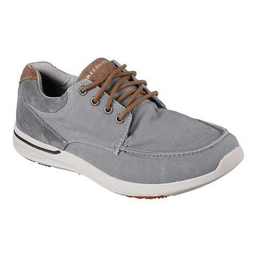 Men's Skechers Relaxed Fit Elent Arven Boat Shoe Gray