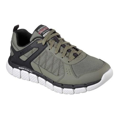 6d4e3e7e239a Shop Men s Skechers Relaxed Fit Skech-Flex 2.0 High Knoll Sneaker  Olive Black - Free Shipping Today - Overstock - 19220179