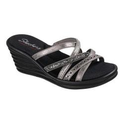 Women's Skechers Rumblers Wave New Lassie Slide Wedge Sandal Pewter