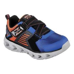 Boys' Skechers S Lights Hypno-Flash 2.0 Rapid Quake Z Strap Shoe Blue/Black