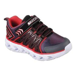 Boys' Skechers S Lights Hypno-Flash 2.0 Sneaker Charcoal/Red