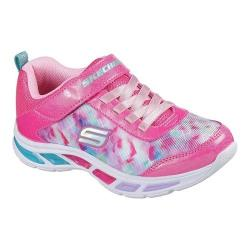 Girls' Skechers S Lights Litebeams Slip-On Sneaker Neon Pink/Multi