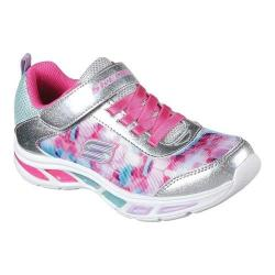 Girls' Skechers S Lights Litebeams Slip-On Sneaker Silver/Multi