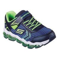Boys' Skechers S Lights Turbo Flash Light Up Sneaker Navy/Lime