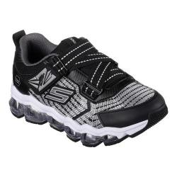 Boys' Skechers S Lights Turbo-Flex Radex Z Strap Sneaker Black/Silver