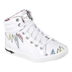 Girls' Skechers Shoutouts Scribble Beauties High Top Sneaker White/Multi