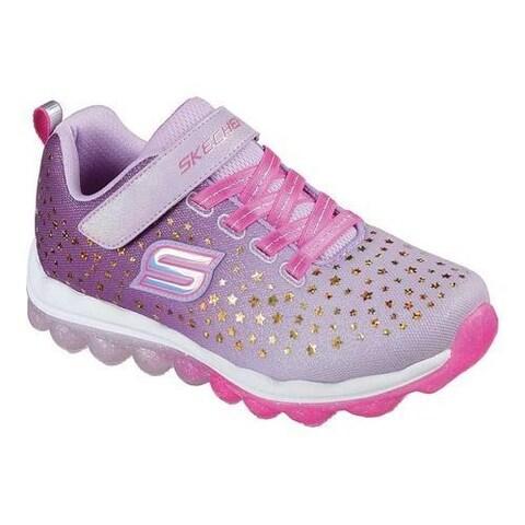 Girls' Skechers Skech-Air Star Jumper Sneaker Lavender/Pink