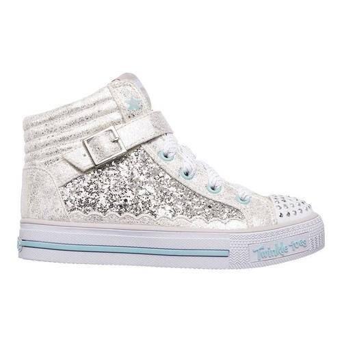 pierna Reclamación menú  Girls' Skechers Twinkle Toes Shuffles Glitter Girly High Top  Silver/Turquoise - Overstock - 19220246