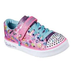 Girls' Skechers Twinkle Toes Twinkle Breeze 2.0 Character Cutie Hot Pink/Multi