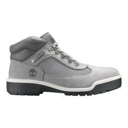 Men's Timberland Field Leather/Fabric Waterproof Boot Light Grey Nubuck