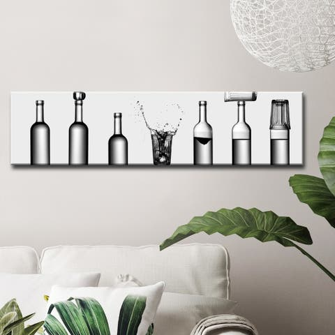 Bottle's Game' Wrapped Canvas Wall Art