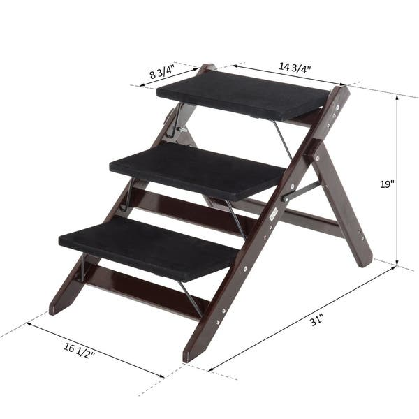 Remarkable Shop Pawhut 2 In 1 Portable Folding 3 Step Pet Stairs Ramp Ncnpc Chair Design For Home Ncnpcorg
