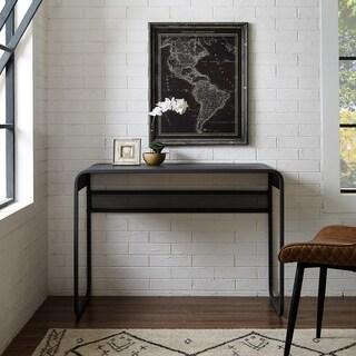 Carbon Loft Chertovsky Metal Desk with Curved Top