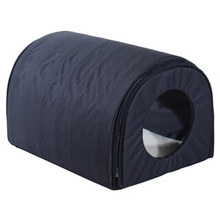 Pawhut Heated Outdoor Cat House - Black