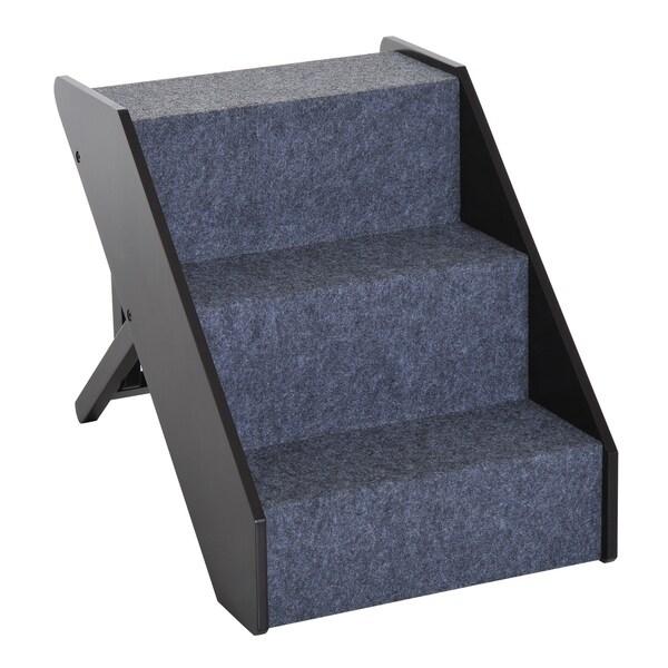 Shop Pawhut 3 Step Adjustable Wooden Portable Folding Pet