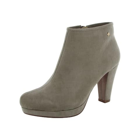 MTNG Mustang Womens 58347 Zip Up Bootie Shoes Taupe