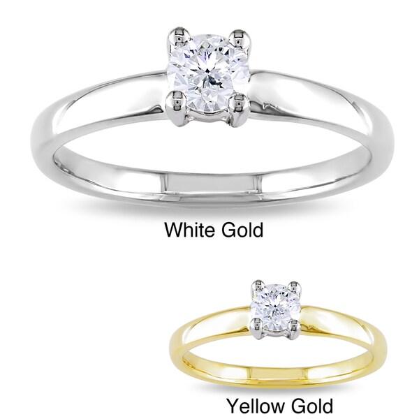 Miadora 14k Gold 1/3ct TDW Diamond Solitaire Ring (G-H, I1-I2)