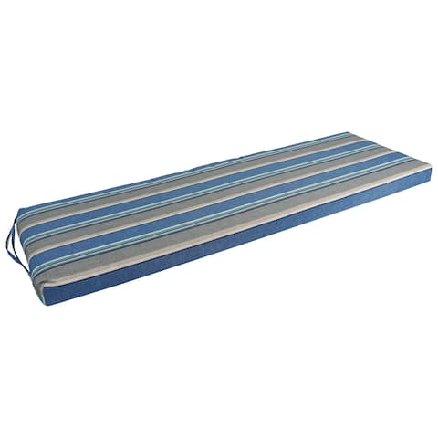 Blazing Needles 57-inch Indoor/Outdoor Striped Bench Cushion