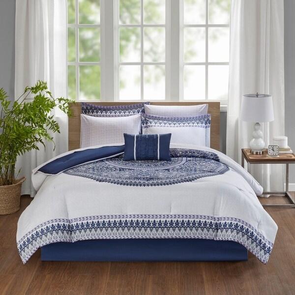 49acba591a8c Madison Park Essentials Cristal Purple Complete Bed Set Including Cotton  Sheets