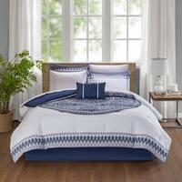 Madison Park Essentials Cristal Purple Complete Bed Set Including Cotton Sheets