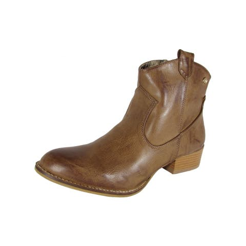 MTNG Mustang Womens 58412 Western Ankle Boot Shoes, Brown