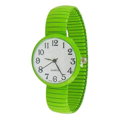 Easy to Read Jumbo Dial Stretch Band Watch