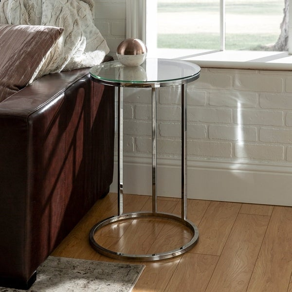Silver Orchid Mace 16-inch Round C Side Table - 16 x 16 x 24h