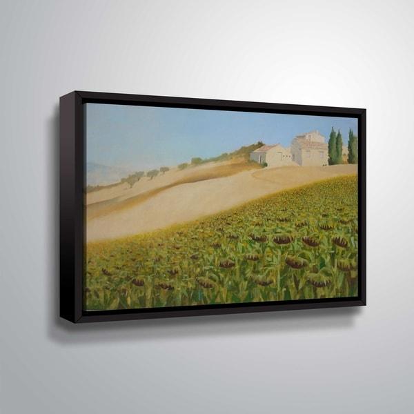 ArtWall Italian Farm Floater Framed Canvas
