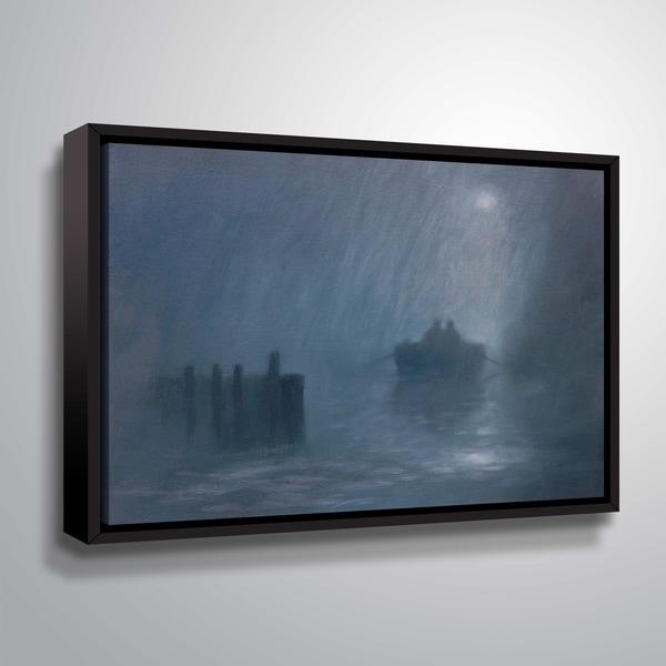 ArtWall Rowing II Floater Framed Canvas
