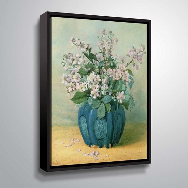 ArtWall Blackberry Blossoms Floater Framed Canvas