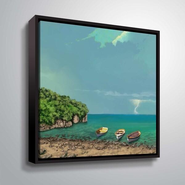 ArtWall serenity II Floater Framed Canvas
