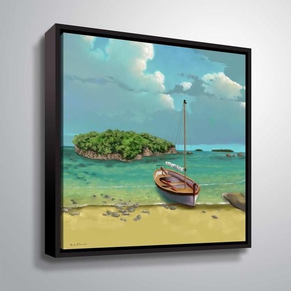 ArtWall Serenity I Floater Framed Canvas