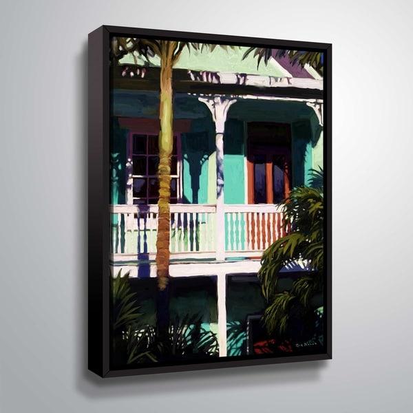 ArtWall Conch cottage I Floater Framed Canvas