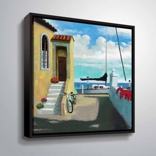 ArtWall Sea side steps Floater Framed Canvas