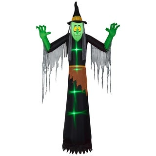 National Tree Company Black 12-foot Inflatable Witch Halloween Decoration