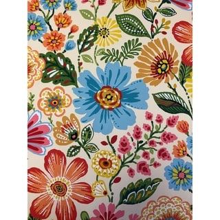Blazing Needles 57-inch All-Weather Floral Bench Cushion (gregoire)