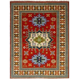 eCarpetGallery  Hand-knotted Royal Kazak Dark Copper Wool Rug - 5'8 x 7'9
