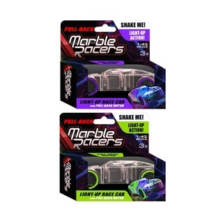 Pullback Marble Racers 2 pack - Green & Purple 1:43 Scale
