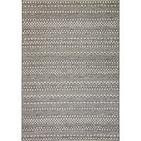 Solar Light Grey Indoor/Outdoor Area Rug - 6'7 x 9'6