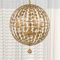 Eclectic 6-light Antique Gold Chandelier - Antique Gold